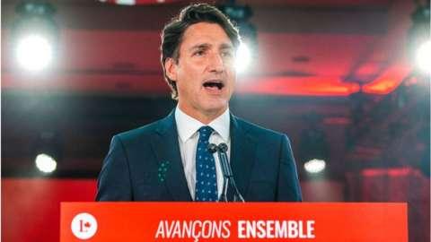 Trudeau speaks on election night