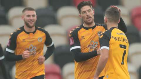 Newport County players