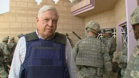 John Simpson in Iraq