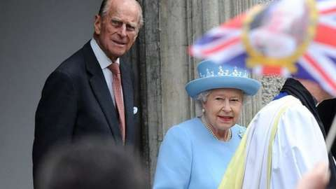 The Queen and Prince Philip visiting Enniskillen in 2012