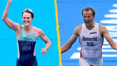 Flora Duffy and Kristian Blummenfelt