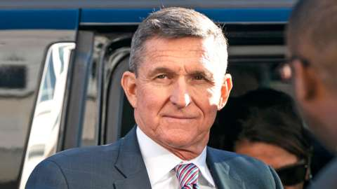 Michael Flynn arrives for his sentencing hearing