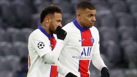 Neymar and Kylian Mbappe
