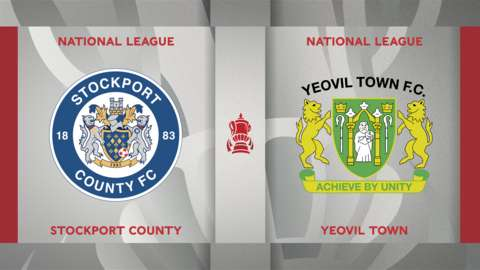 Stockport County v Yeovil Town badge graphics