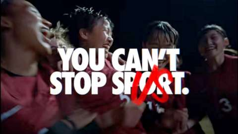 Still from the Nike ad causing a backlash in Japan