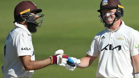 Surrey batters Hashim Amla and Ollie Pope