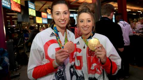 Bianca Walkden and Jade Jones