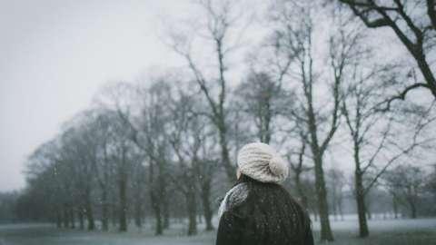 Woman enjoying an outdoor walk