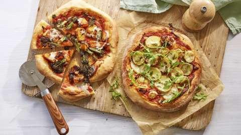 Two vegan pizzas