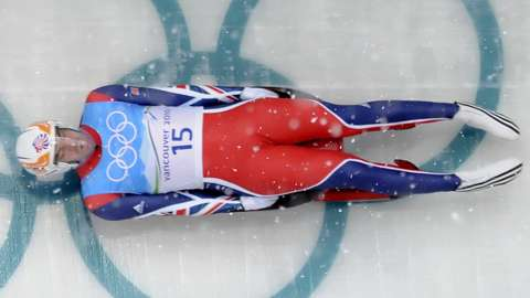 AJ Rosen competes for Great Britain in the 2010 Winter Olympics
