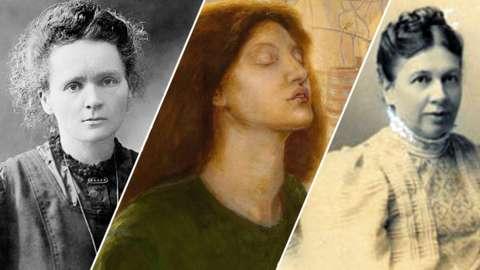 Marie Curie, Elizabeth Siddal and Sonya Tolstoy