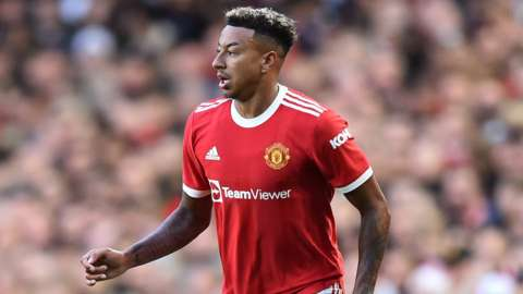 Jesse Lingard playing for Manchester United