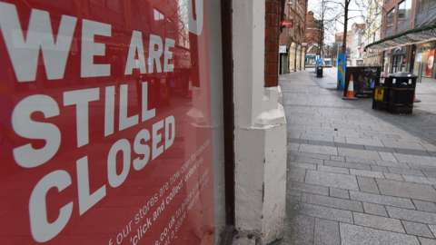 Most businesses in Belfast city centre have been closed since Christmas