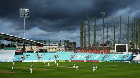 Surrey in action against Nottinghamshire in the County Championship at the Kia Oval in September 2019
