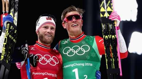 Norway's Martin Johnsrud Sundby and Johannes Hosflot Klabo