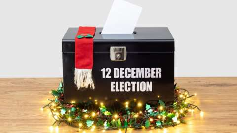 Election 2019 ballot box