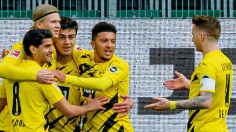 Erling Braut Haaland celebrates scoring