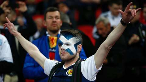 Scotland fan at Wembley