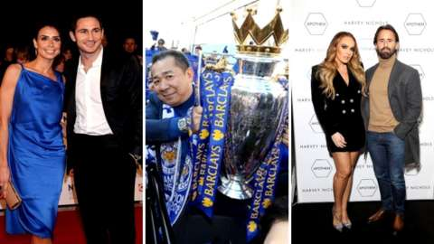 Frank and Christine Lampard, Vichai Srivaddhanaprabha and F1 heiress Tamara Ecclestone