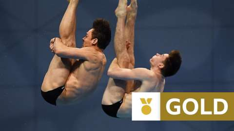 Great Britain's Tom Daley and Matthew Lee
