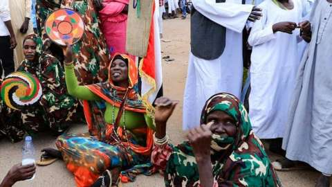 Protest in Sudan in favour of a military takeover, 16 October 2021