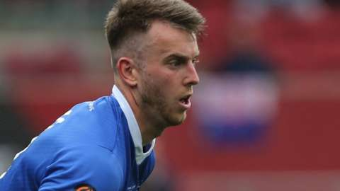 Rhys Oates in action for Hartlepool