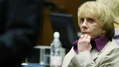 Phil Spector in court during his murder trial