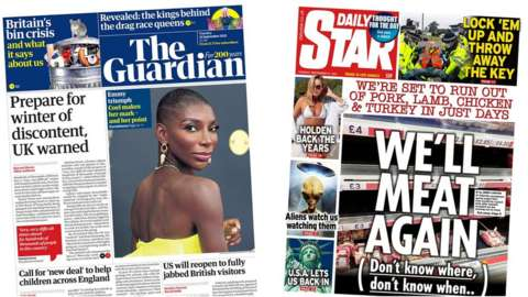 The Guardian and the Star front page