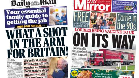 Daily Mail and Daily Mirror