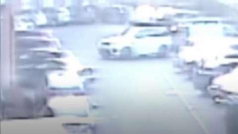 Car hitting parked car