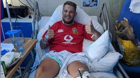Darren George in hospital