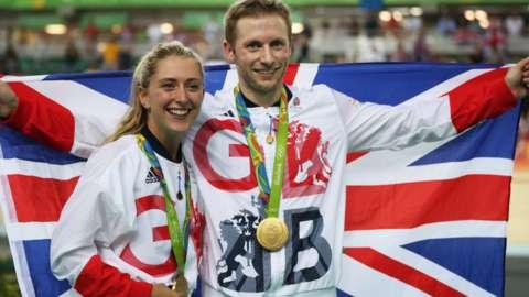Jason and Laura Kenny at Rio 2016