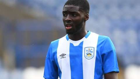 Mustapha Olagunju made his Huddersfield debut on 9 January in their FA Cup third round home defeat by Plymouth Argyle