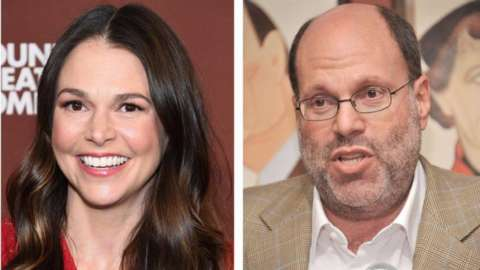 Sutton Foster and Scott Rudin