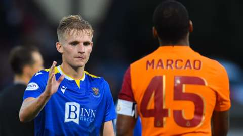 Ali McCann of St Johnstone and Marcao of Galatasaray