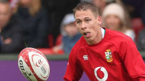 Liam Williams prepares to take a pass in Lions training