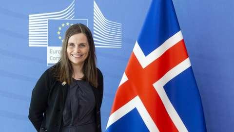 Iceland's Prime minister Katrin Jakobsdottir.