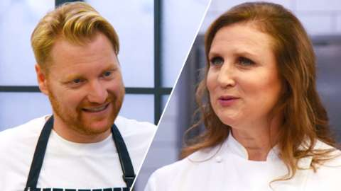 Split image of Chef Nick and Chef Angela Hartnett