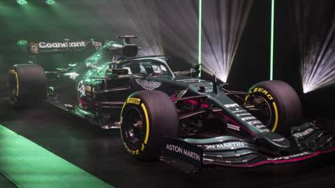 Aston Martin's new F1 car