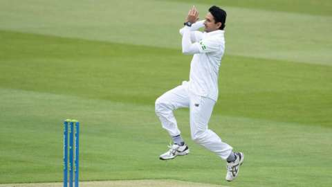 Hampshire fast bowler Mohammad Abbas
