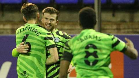 Nicky Cadden scored in added time for Forest Green