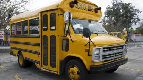 Stock image of a school bus