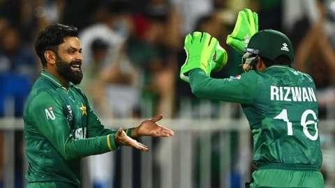 Mohammad Hafeez and Mohammad Rizwan