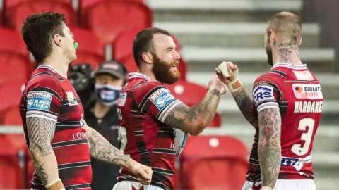 Wigan celebrate