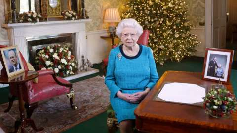 The Queen has only been seen via her Christmas message