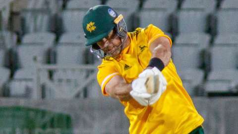 Dan Christian hit the winning run for Notts against Leicestershire