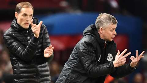 Chelsea boss Thomas Tuchel and Man Utd manager Ole Gunnar Solskjaer