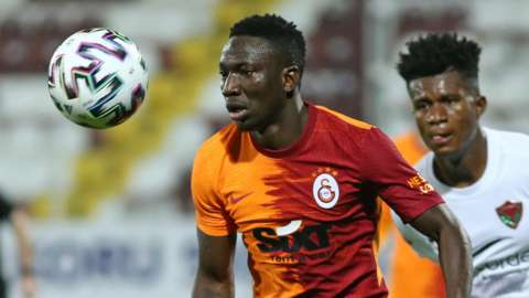 Nigeria's Peter Etebo in action for Turkish club Galatasaray