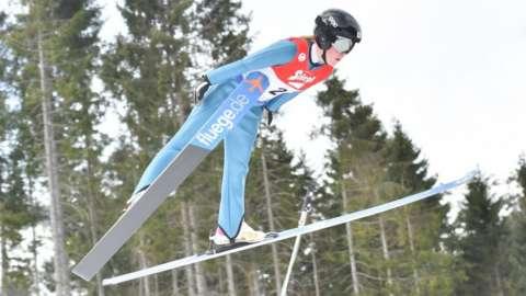 British ski jumper Mani Cooper