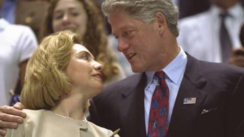 Bill and Hillary Clinton pictured in 1996 at the Atlanta Games